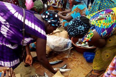 Lors de la répartition, la première main revient à la femme qui est allée acheter le carton de poissons au réfrigérateur. Une récompense pour les efforts fournis, car cela relève du parcourt du combattant.