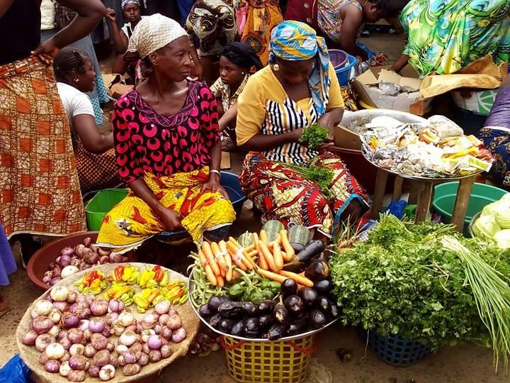Après quoi, ces femmes riches de quatre, cinq, huit, dix, quinze, voire vingt poissons (c'est selon), retournent dans leurs lieux d'habitation respectifs, non sans acheter laitues et légumes qui les accompagnent.