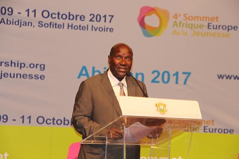 Le Vice-président ivoirien, Daniel Kablan Duncan, lors de son allocution à l'ouverture du 4ème sommet Afrique-Europe de la jeunesse