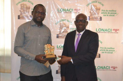 Article : Sangaré Yacouba, lauréat du Prix ''Challenge social Lonaci'' 2017