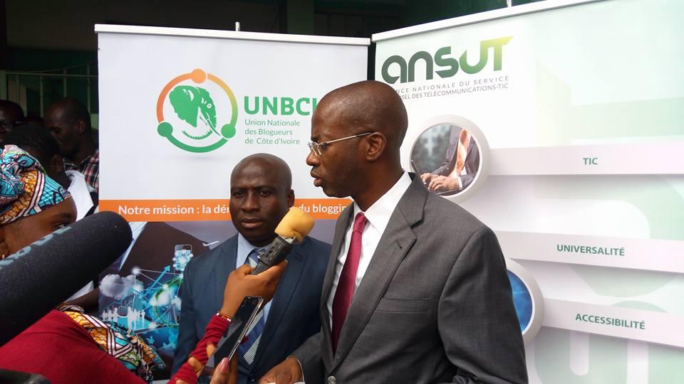 Directeur général de l'Ansut, Euloge Soro-Kipéya à la cérémonie de lancement l'''Ansut Blog Camp''