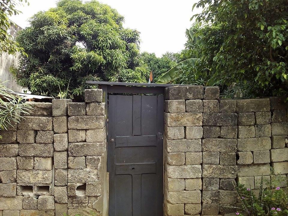 Derrière la porte crise solidement ancrée dans un amas de briques noirâtres qui fait office de mur et de clôture, le tableau est éloquent. Les